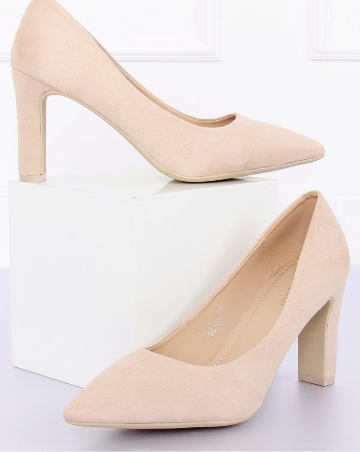 Pantofi dcu toc gros culoarea bej 127141