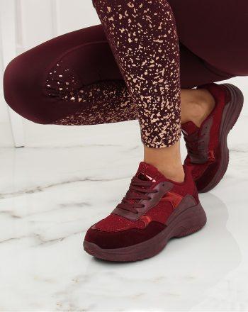 Pantofi de sport culoarea roşu 128013