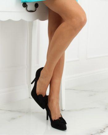 Pantofi cu toc subţire (stiletto) culoarea negru 128020