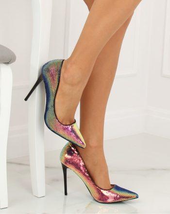 Pantofi cu toc subţire (stiletto) culoarea negru 128146