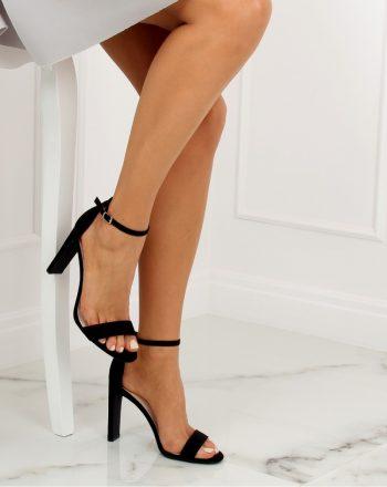 Sandale cu toc culoarea negru 128147