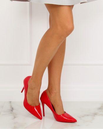 Pantofi cu toc subţire (stiletto) culoarea roşu 128162