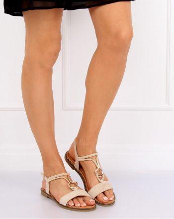 Sandale culoarea bej 130031