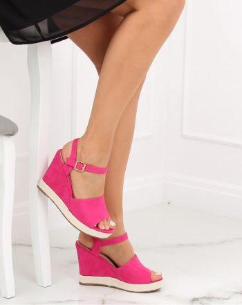 Sandale cu toc culoarea roz 130370