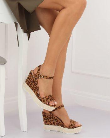 Sandale cu toc culoarea maro 131056