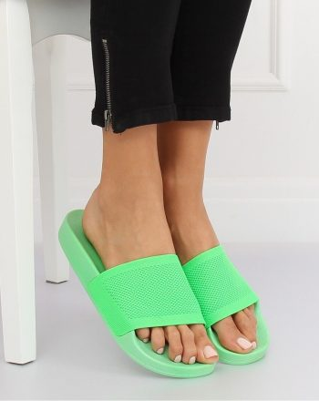 Şlapi culoarea verde 131961