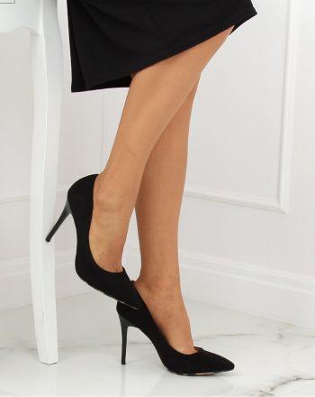 Pantofi cu toc subţire (stiletto) culoarea negru 132076