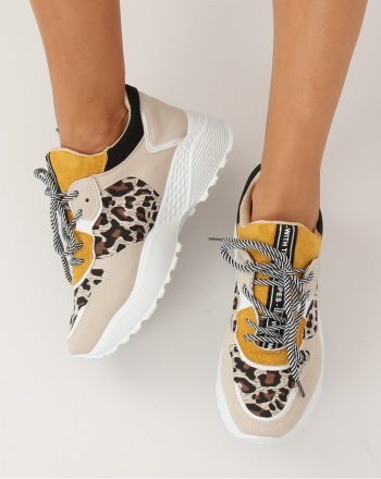 Pantofi sport culoarea bej 133462