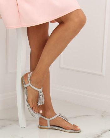 Papuci culoarea gri 133470