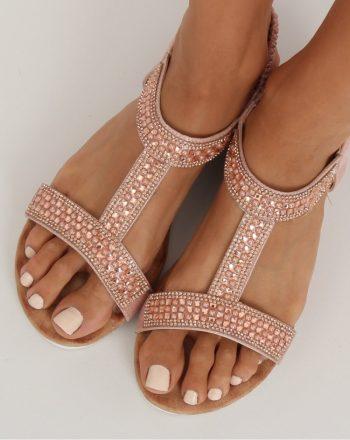 ~Sandały culoarea roz 134291
