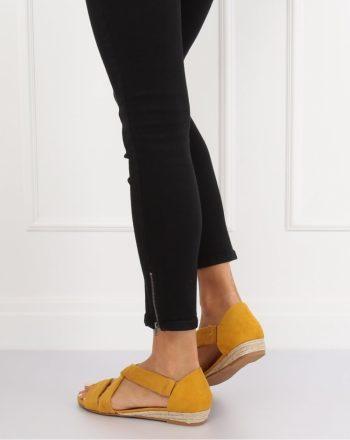 ~Sandały culoarea galben 134305
