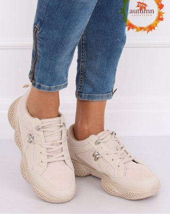 Pantofi de sport culoarea bej 135407
