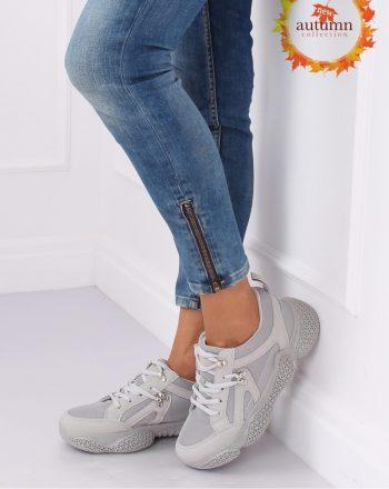 Pantofi de sport culoarea gri 135409