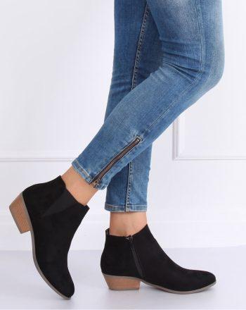 Pantofi cu toc culoarea negru 136646