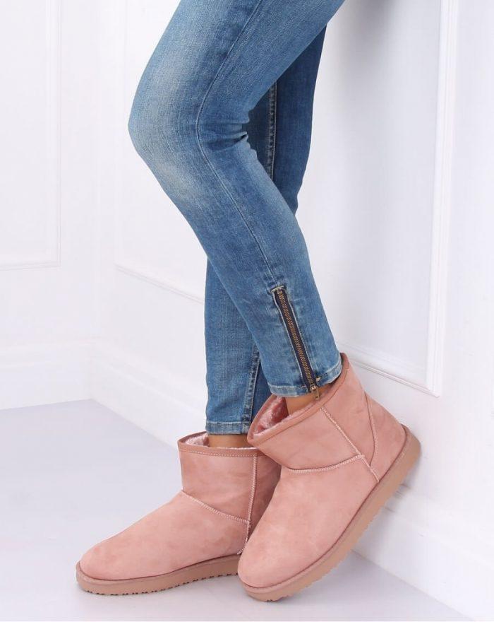 Moon boots culoarea roz 137298