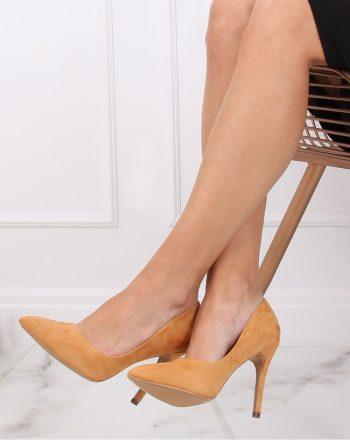 Pantofi cu toc subţire (stiletto) culoarea galben 137457