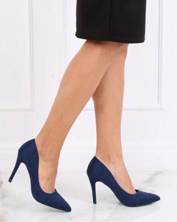 Pantofi cu toc subţire (stiletto) culoarea Bleumarin 137458