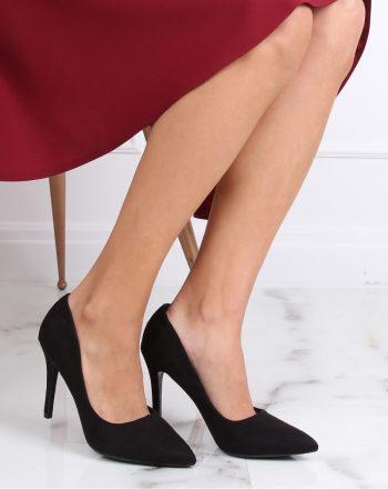 Pantofi cu toc subţire (stiletto) culoarea negru 137459