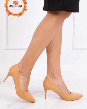 Pantofi cu toc subţire (stiletto) culoarea galben 137461