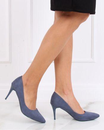 Pantofi cu toc subţire (stiletto) culoarea albastru 137462
