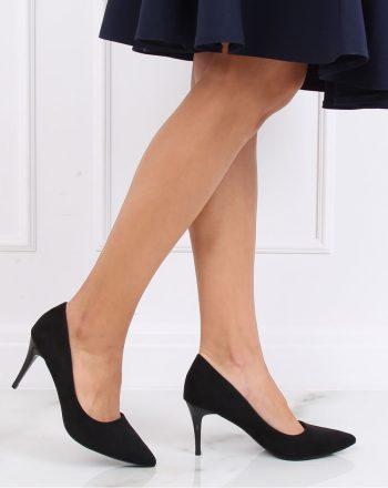 Pantofi cu toc subţire (stiletto) culoarea negru 137463