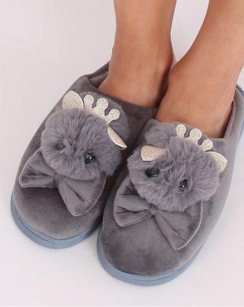 Papuci culoarea gri 137475