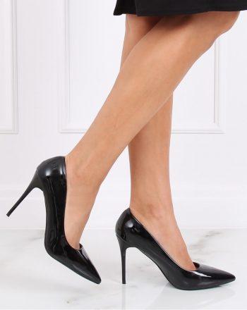 Pantofi cu toc subţire (stiletto) culoarea negru 139079
