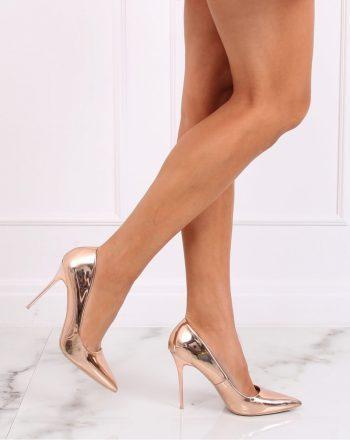 Pantofi cu toc subţire (stiletto) culoarea roz 139080