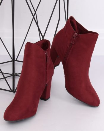 ~Botki na obcasie culoarea roşu 139232