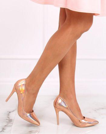 Pantofi cu toc subţire (stiletto) culoarea roz 139723