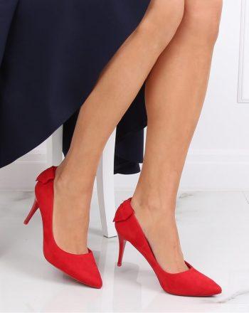 Pantofi cu toc subţire (stiletto) culoarea roşu 139724