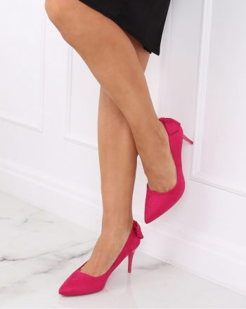 Pantofi cu toc subţire (stiletto) culoarea roz 139727
