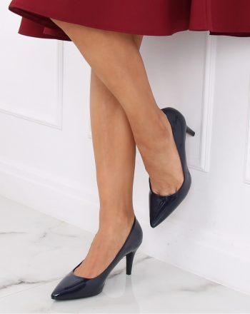Pantofi cu toc subţire (stiletto) culoarea Bleumarin 139735