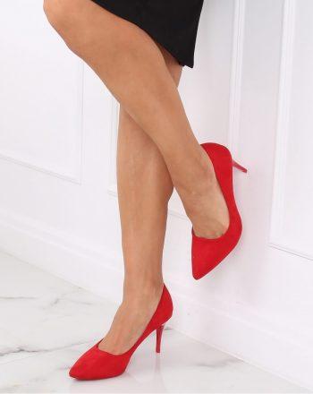 Pantofi cu toc subţire (stiletto) culoarea roşu 139746