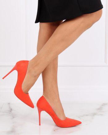 Pantofi cu toc subţire (stiletto) culoarea portocaliu 139749
