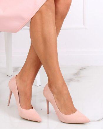Pantofi cu toc subţire (stiletto) culoarea roz 139750