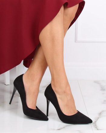 Pantofi cu toc subţire (stiletto) culoarea negru 139751