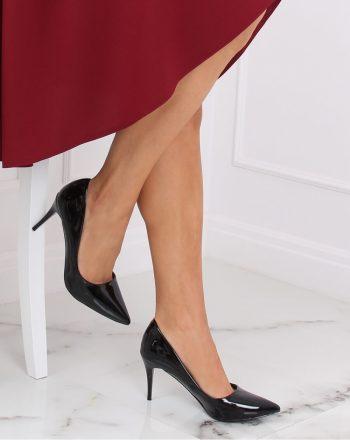 Pantofi cu toc subţire (stiletto) culoarea negru 139756