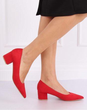 Pantofi dcu toc gros culoarea roşu 140689