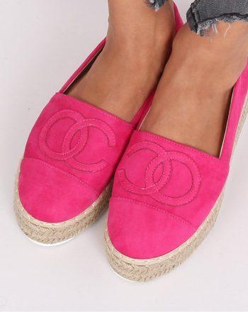 ~Espadryle culoarea roz 140704