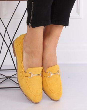 Mocasini culoarea galben 140713