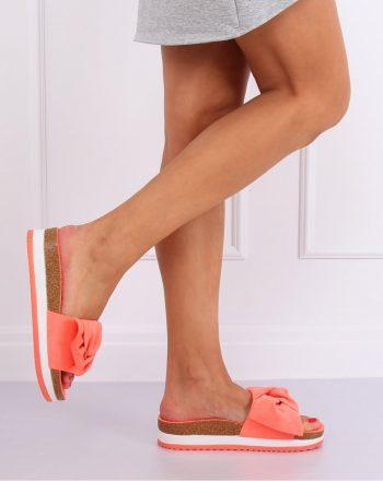 Şlapi culoarea portocaliu 141082