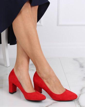 Pantofi dcu toc gros culoarea roşu 142180