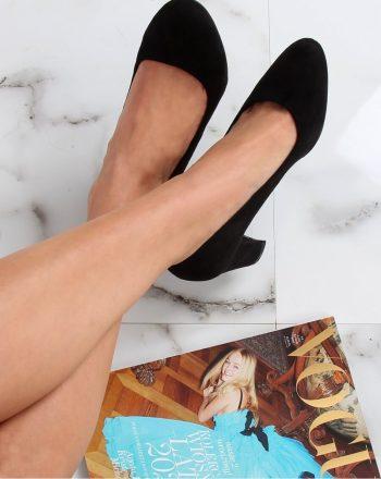 Pantofi dcu toc gros culoarea negru 142181