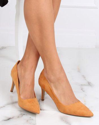 Pantofi cu toc subţire (stiletto) culoarea maro 142948