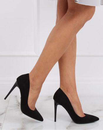 Pantofi cu toc subţire (stiletto) culoarea negru 143185