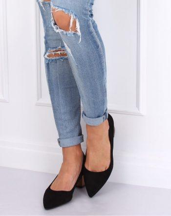 Pantofi dcu toc gros culoarea negru 143532