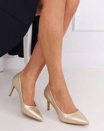 Pantofi cu toc subţire (stiletto) culoarea galben 143681