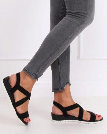 Sandale cu toc culoarea negru 143835